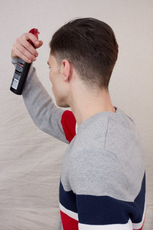 how to style short hair for men heat protect spray
