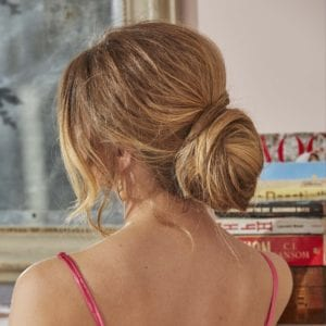 trendy prom hairstyles low twist updo