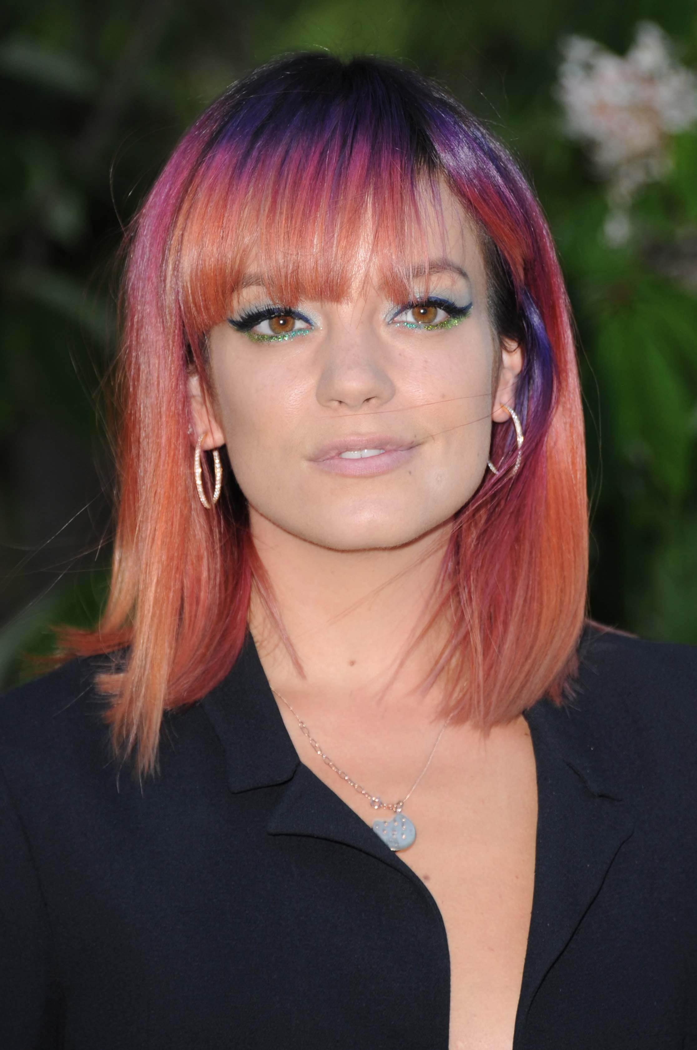 Lily Allen dip-dyed hair