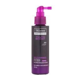 tresemme youth boost recharges fullness emulsion spray front view