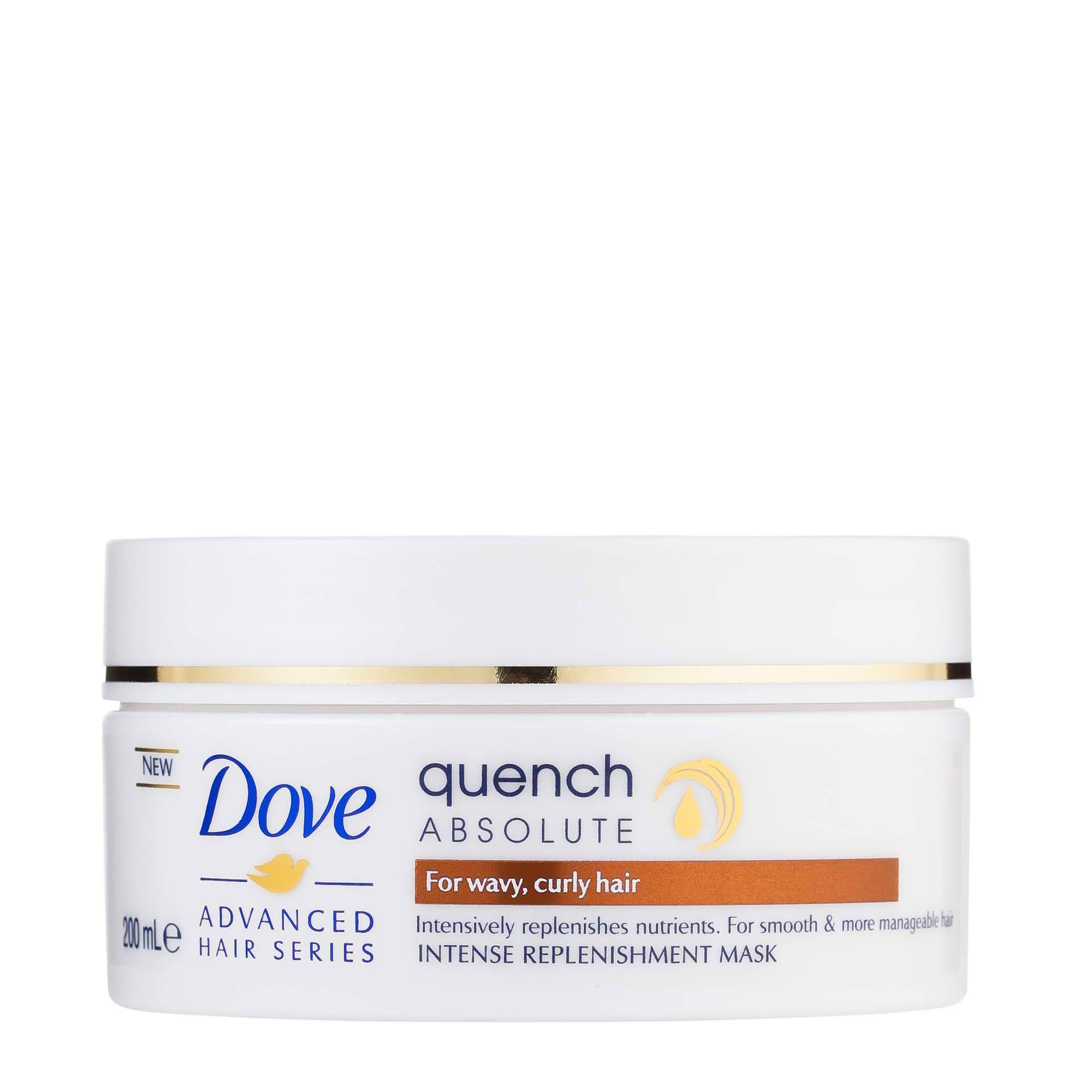 Curly hair products Dove Intensive replenishment mask