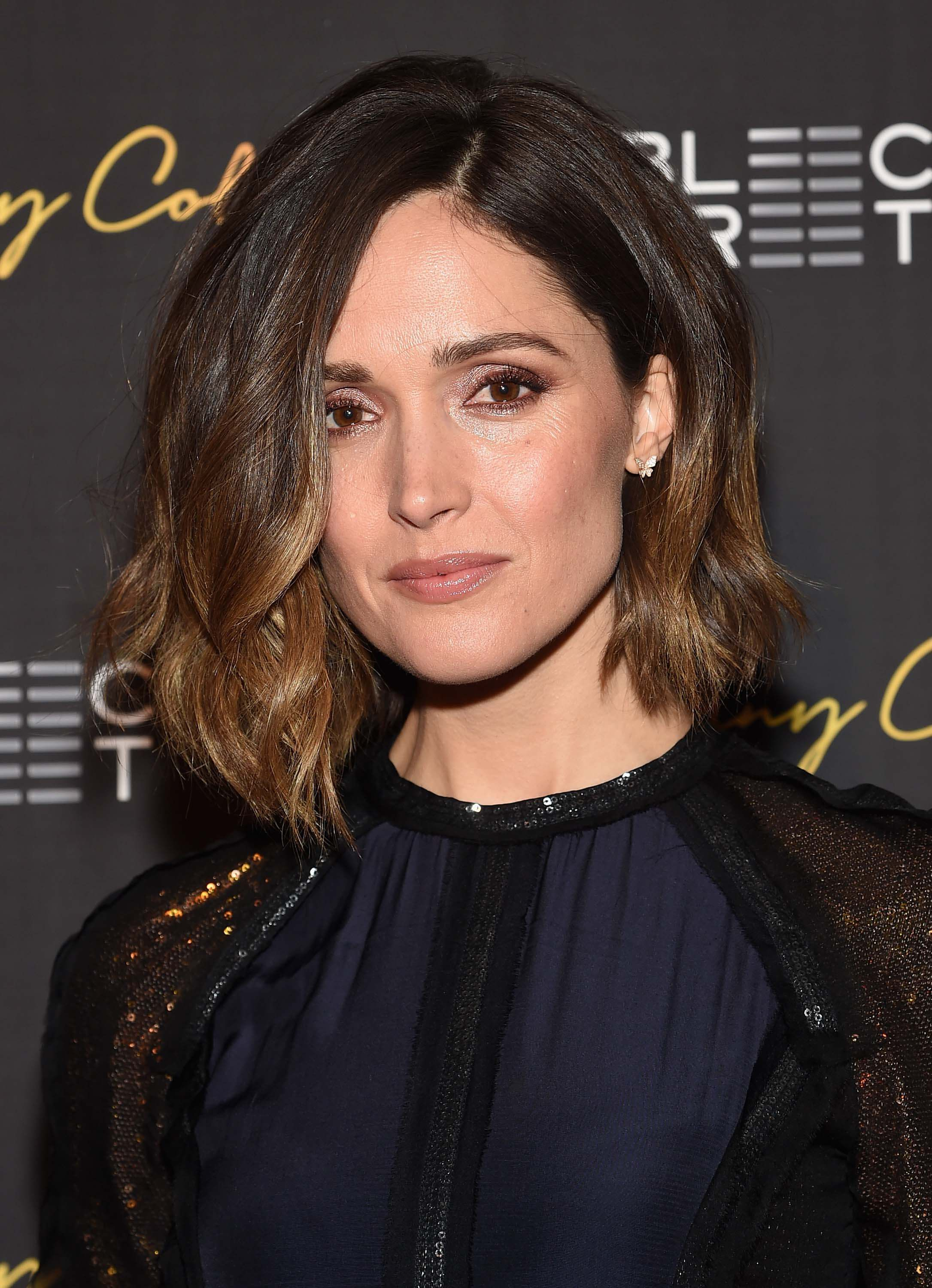 umber ombre brown hair rose byrne
