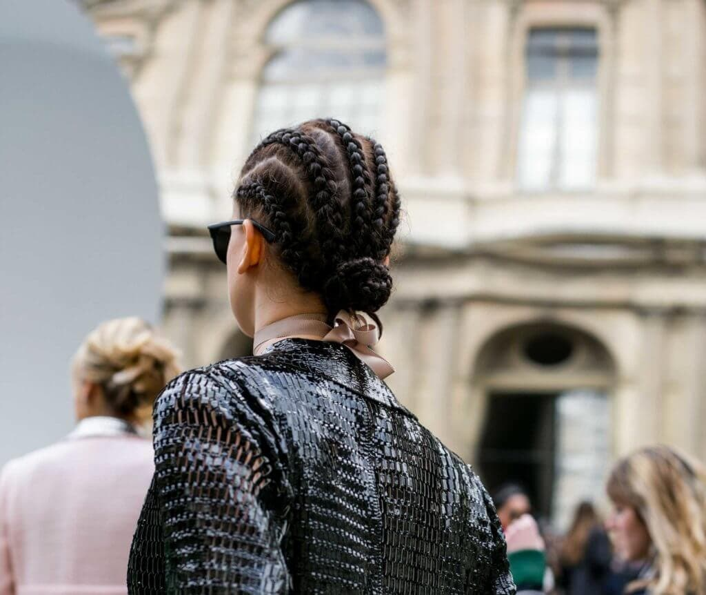 cornrow braids can be thin or thick
