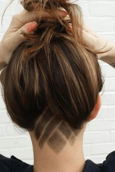 formsalon highlights undercut with hair tattoo