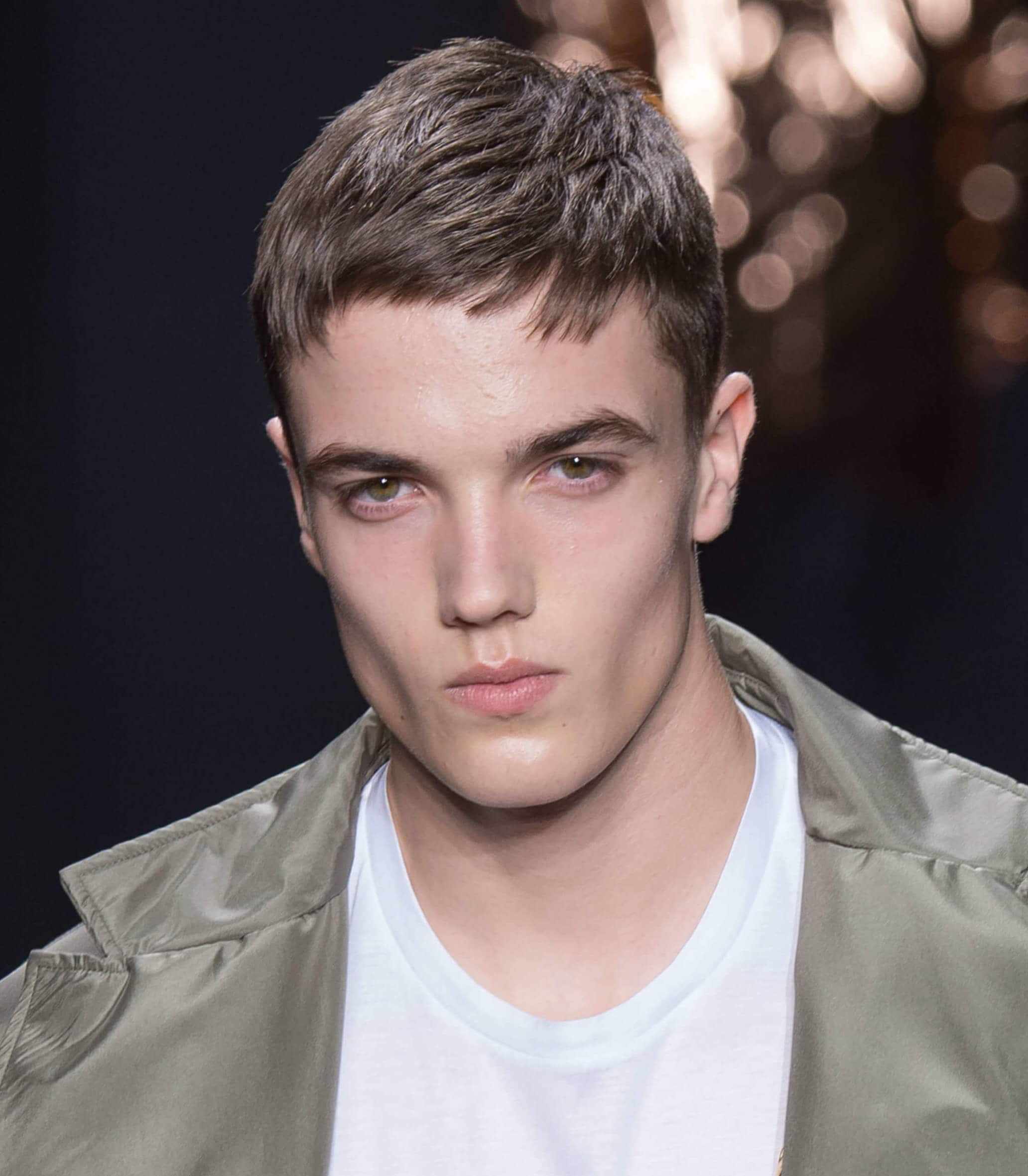 brown haired man with a French crop calvin Klein FW16