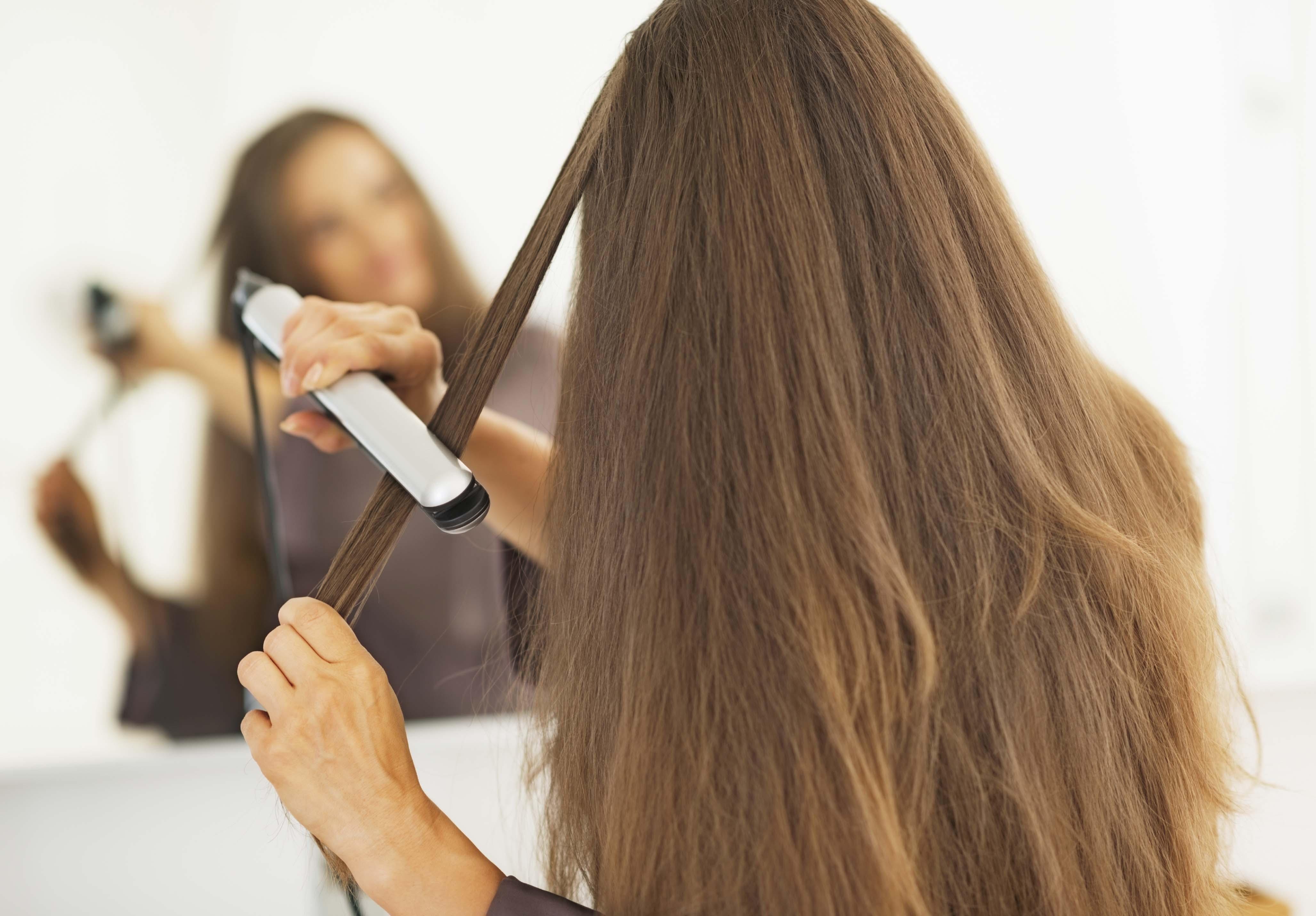 straight-womens-hair-damage-dry-hair