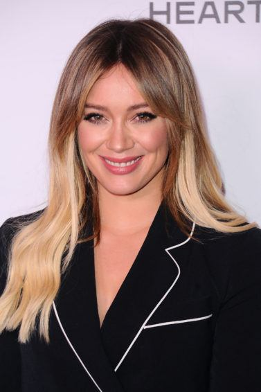Hilary Duff with brunette and blonde balayage hair