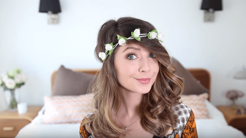 zoella shows how to create 3 festival hairstyles