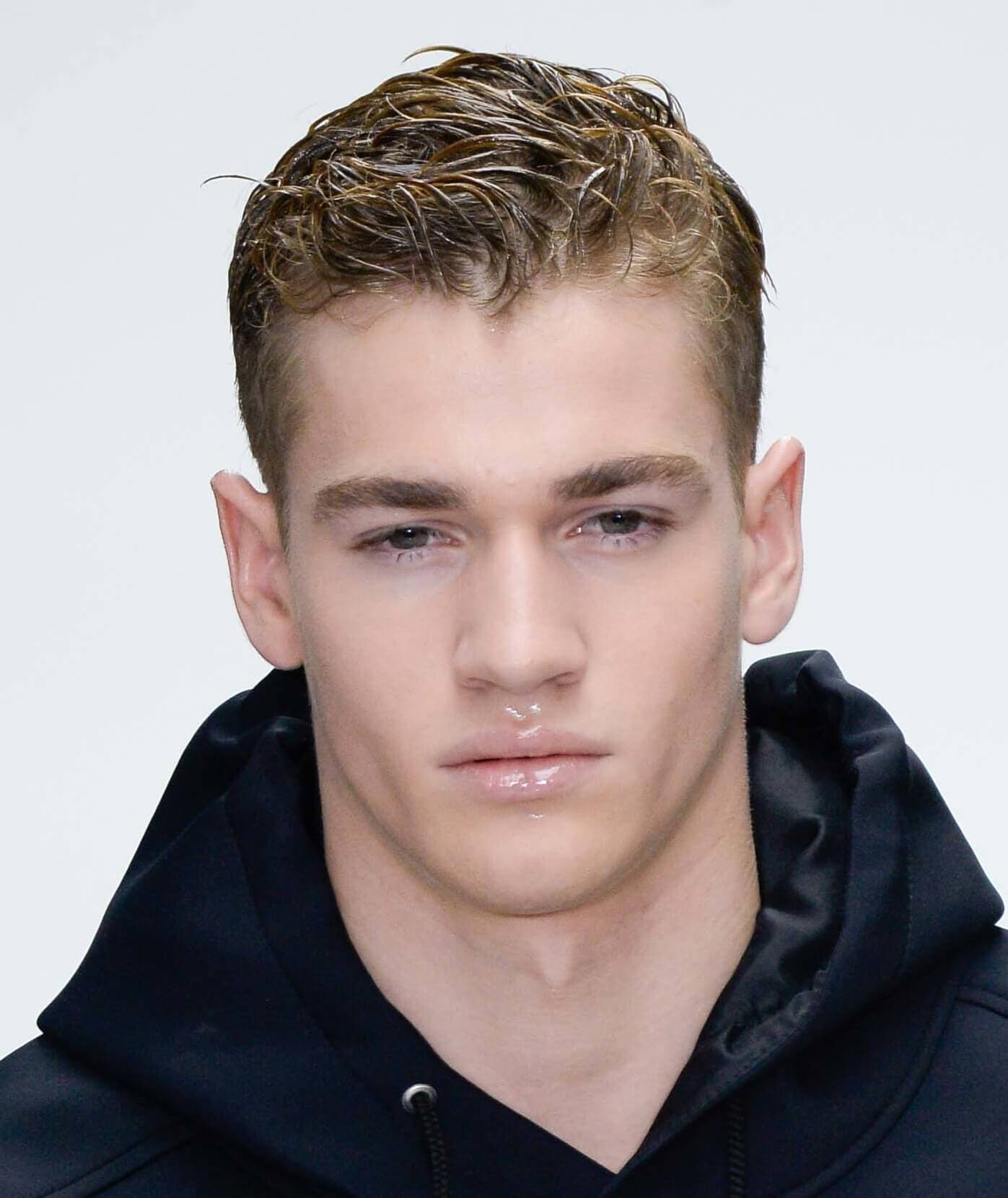 Hairstyles For Men With Thick Hair Wet Look