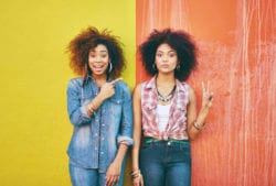 two girls with natural hair istock