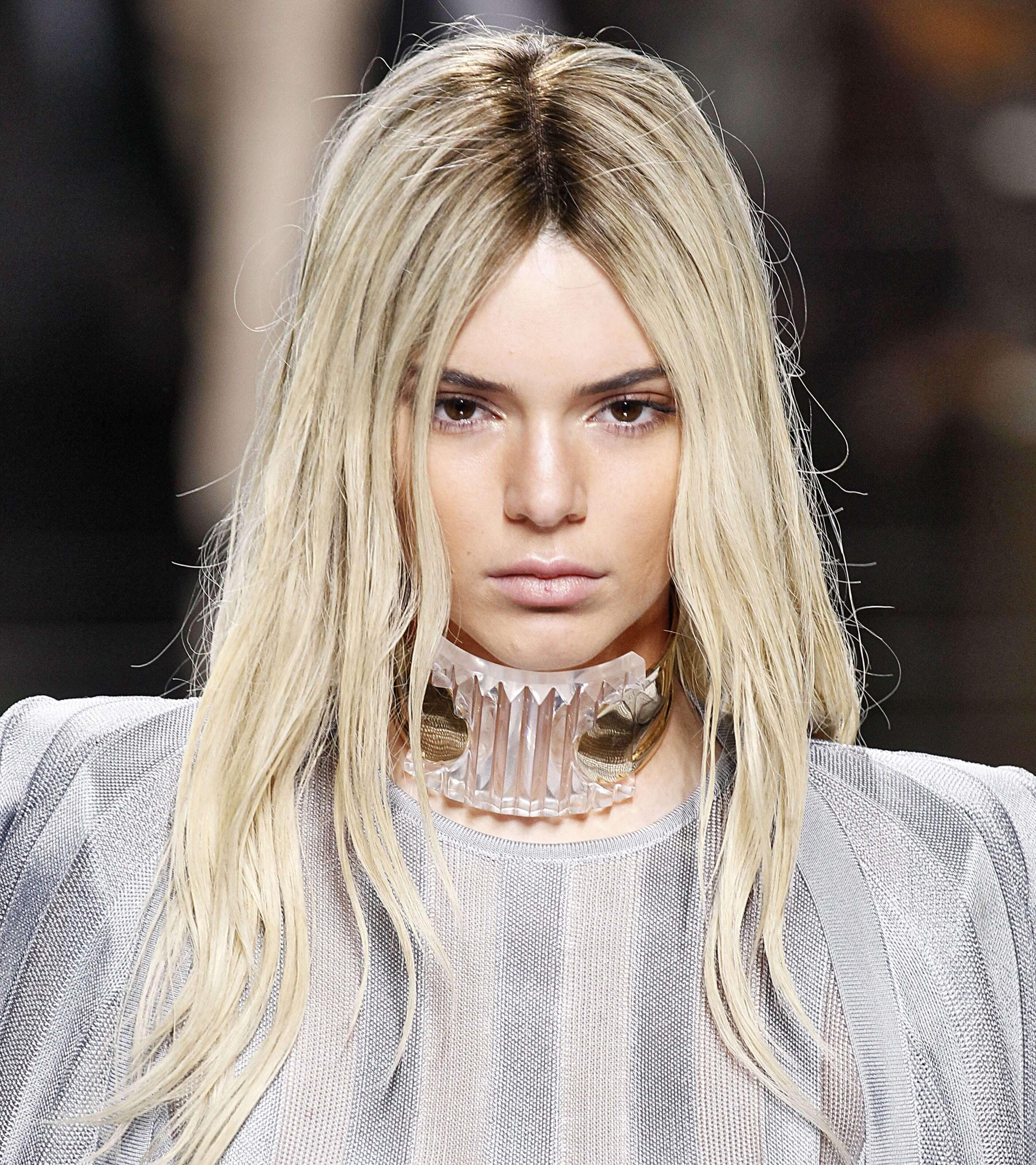 Balmain SS16 platinum blonde hair
