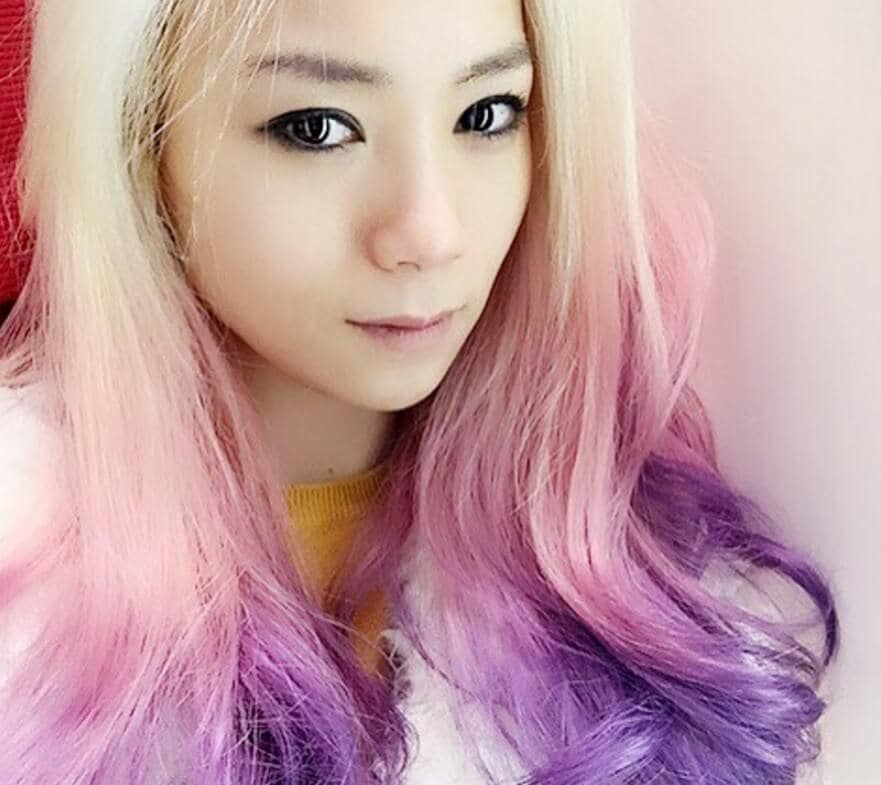 candy purple ombre hair inspiration