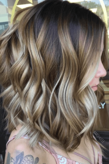 sunkissed balayage highlights