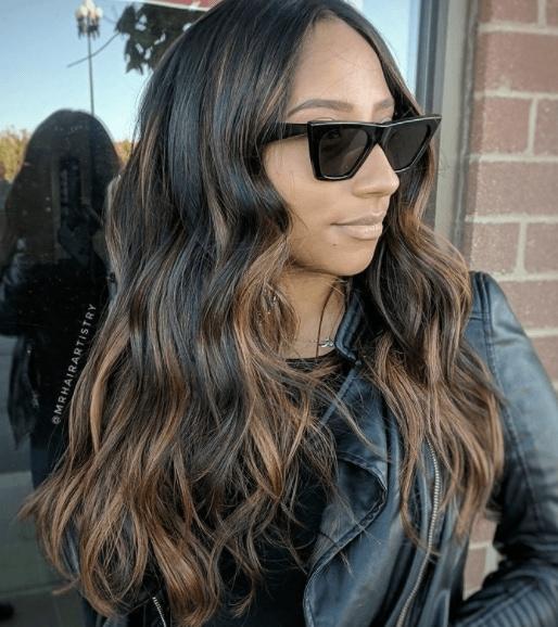 Dark hair balayage