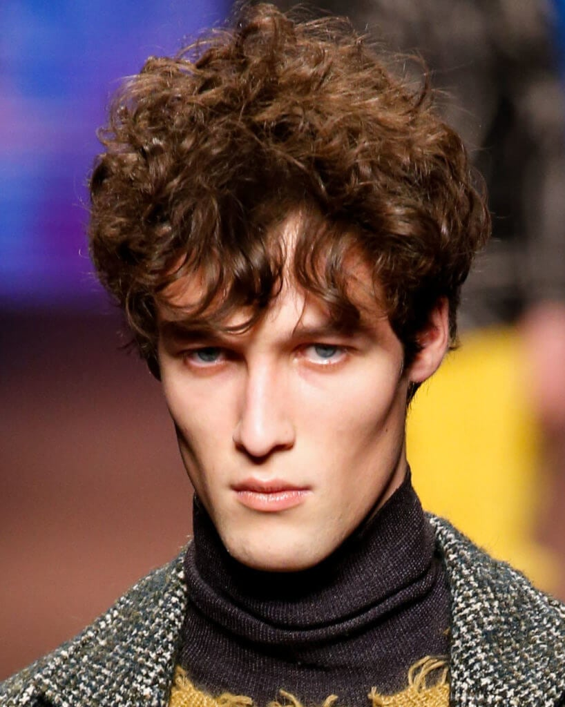 mens curly hairstyles quiff