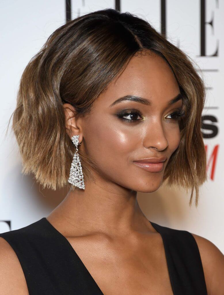 Jourdan Dunn short ombre hair