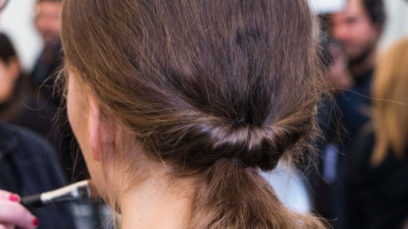 quick and easy hairstyles twisted ponytail