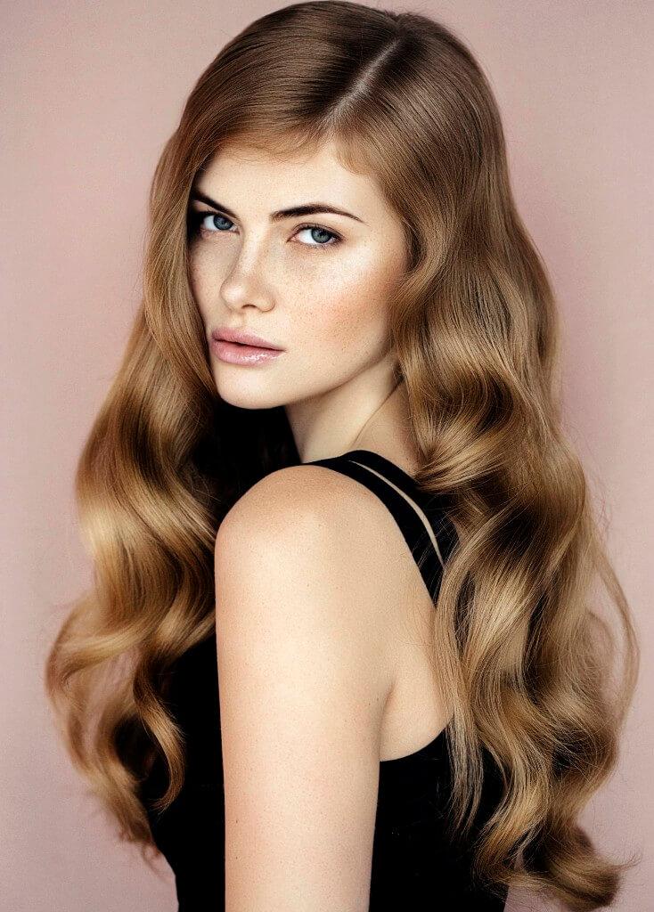 medium loose curls light brown
