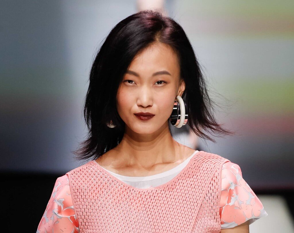 asymmetric cut hairstyles for long faces