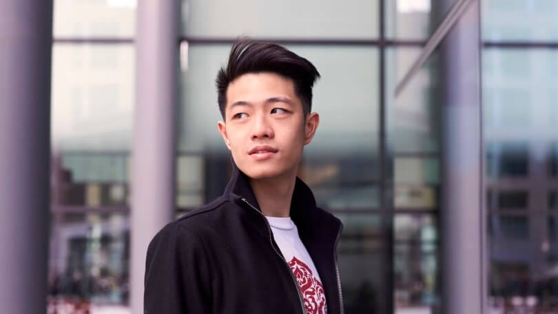popular asian men's hairstyles: tapered quiff