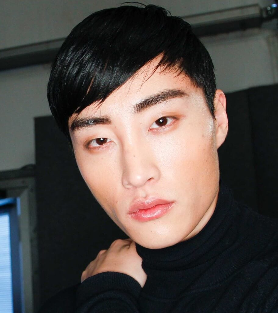 side bangs on asian man