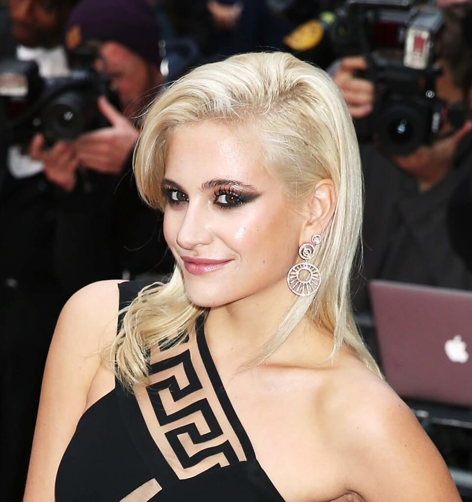 Bleach blonde hair Pixie Lott