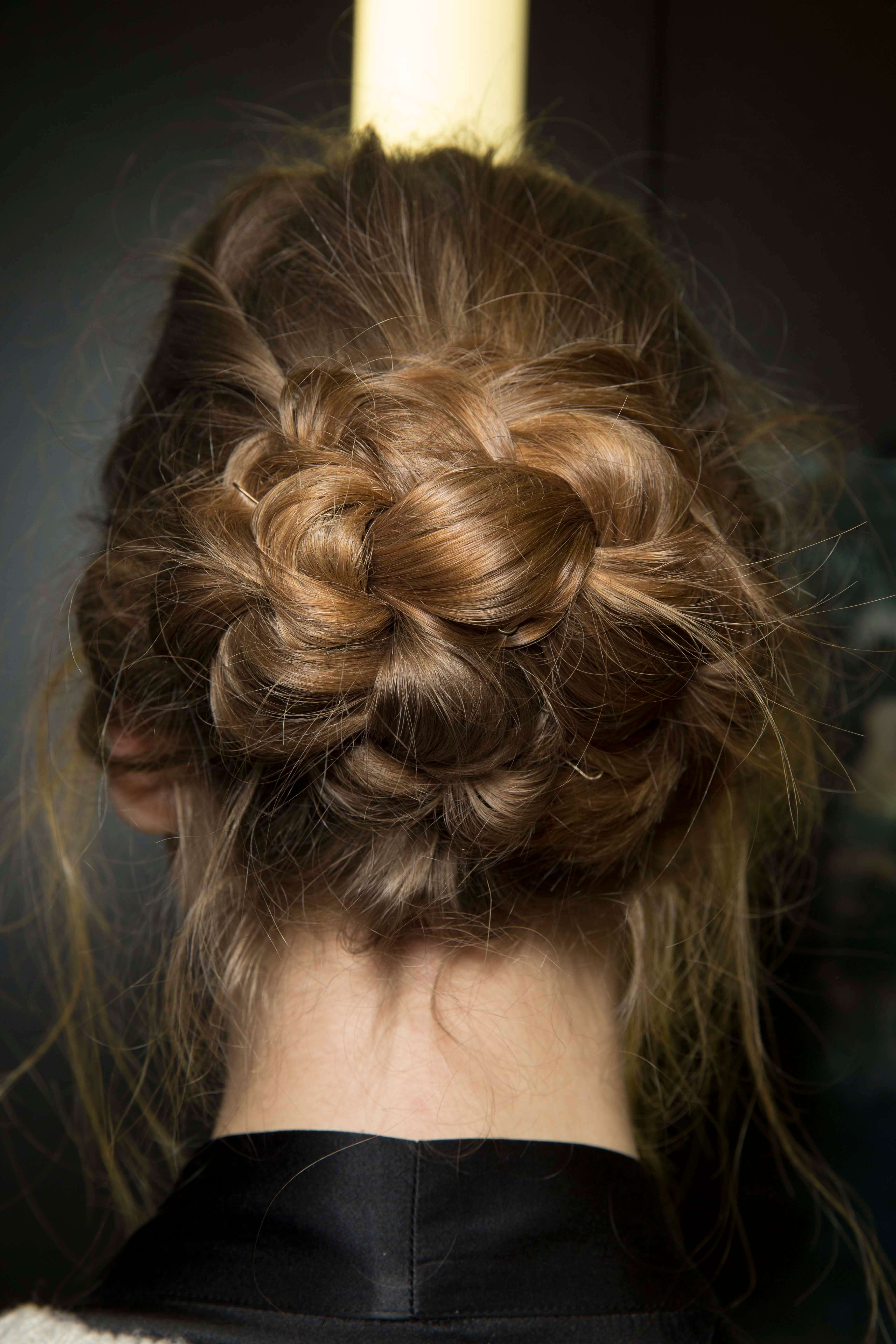 fancy hairstyles: low braided bun