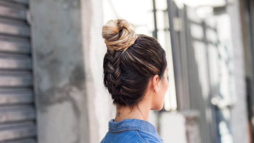 Back-French-braid-and-bun