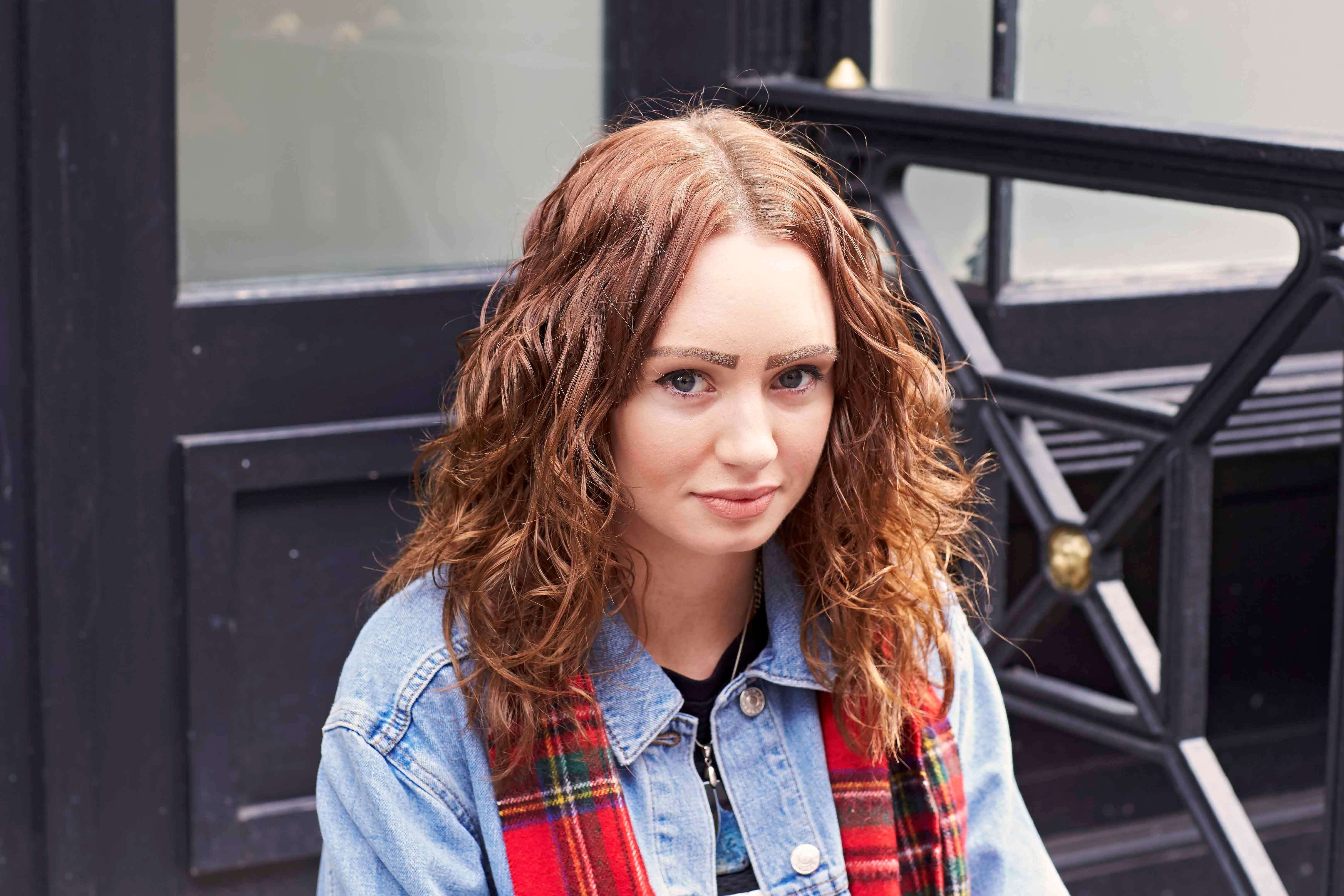 mid length hairstyles for thick hair curly