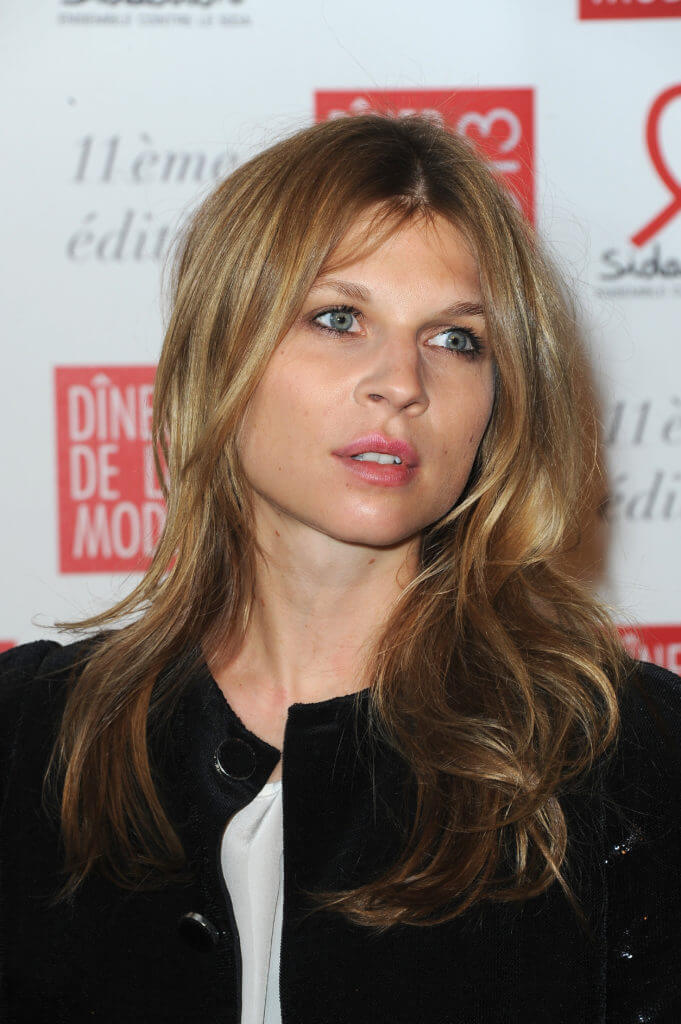 Clemence poesy with long dark blonde hair