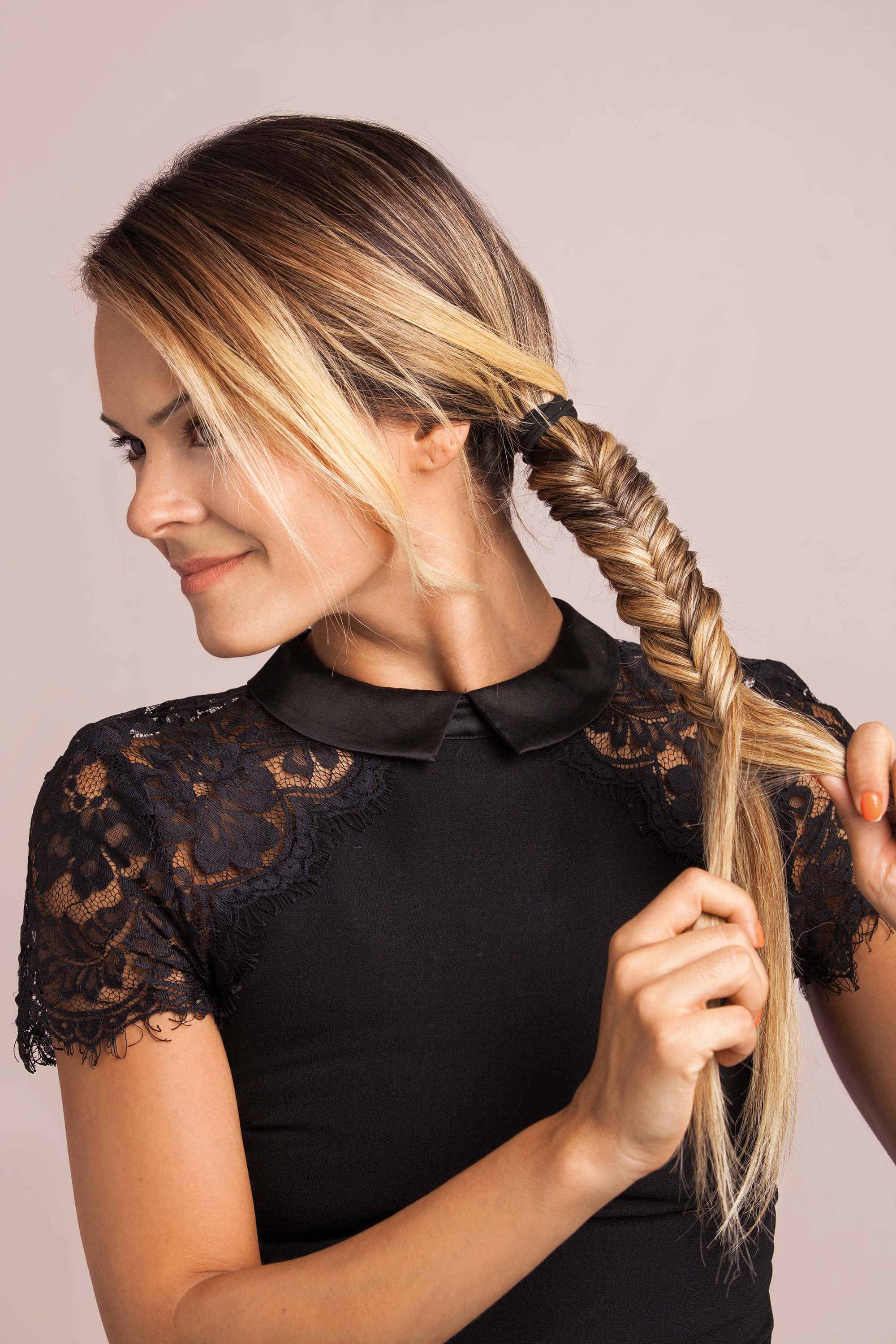 How to create your new favourite updo: The side fishtail