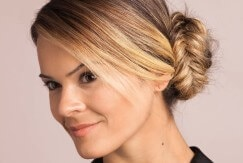 fishtail bun updo easy prom hairstyles