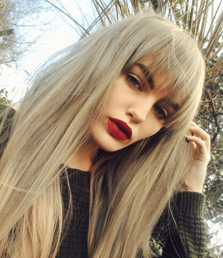 Long Hair With A Fringe: All Things Hair   IMAGE   Blonde Hair Brown Brows