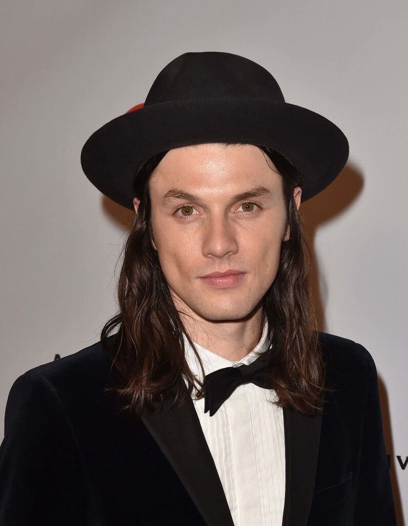39fd6e1ce90fb A-list men s long hairstyles  James Bay with shoulder length straight brown  hair and
