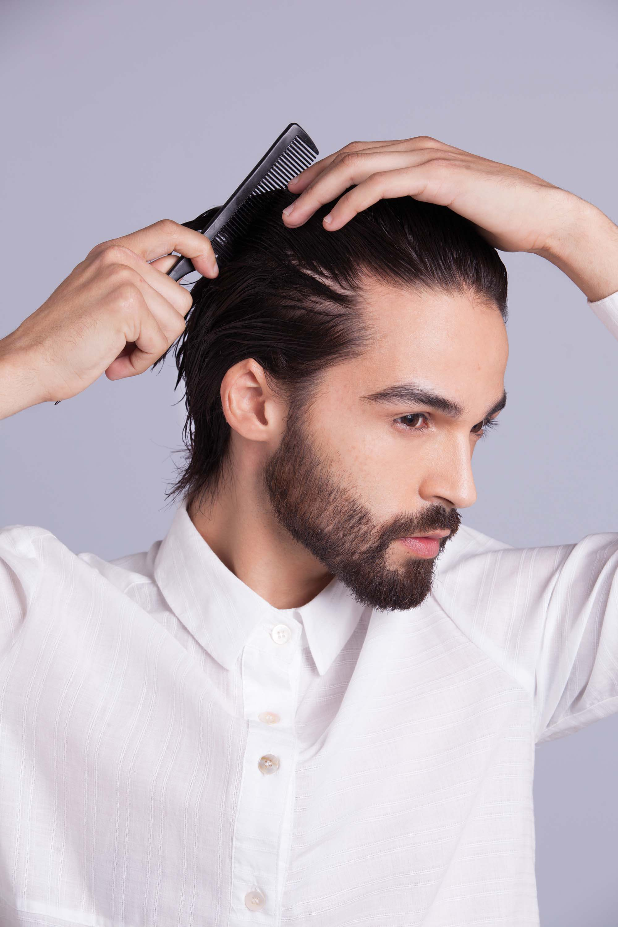 how to use hair gel for men