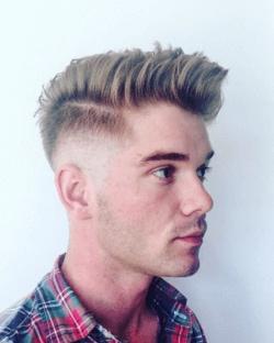 Blonde mid fade haircut