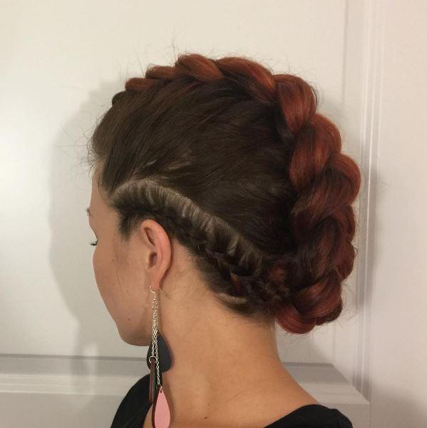 Fun hairstyles: All Things Hair - IMAGE - Bradied mohawk