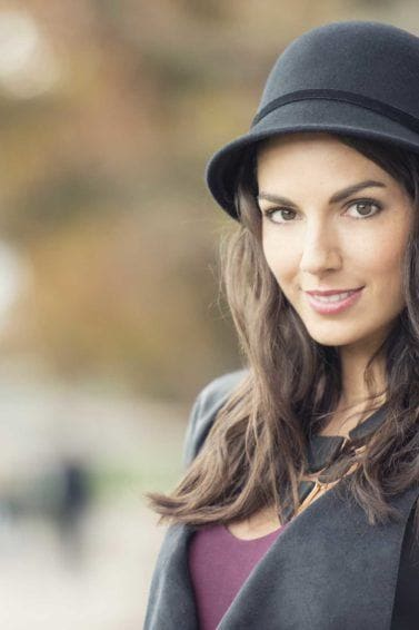 Dyeing your blonde hair brown: All Things Hair - IMAGE - brunette with a winter hat