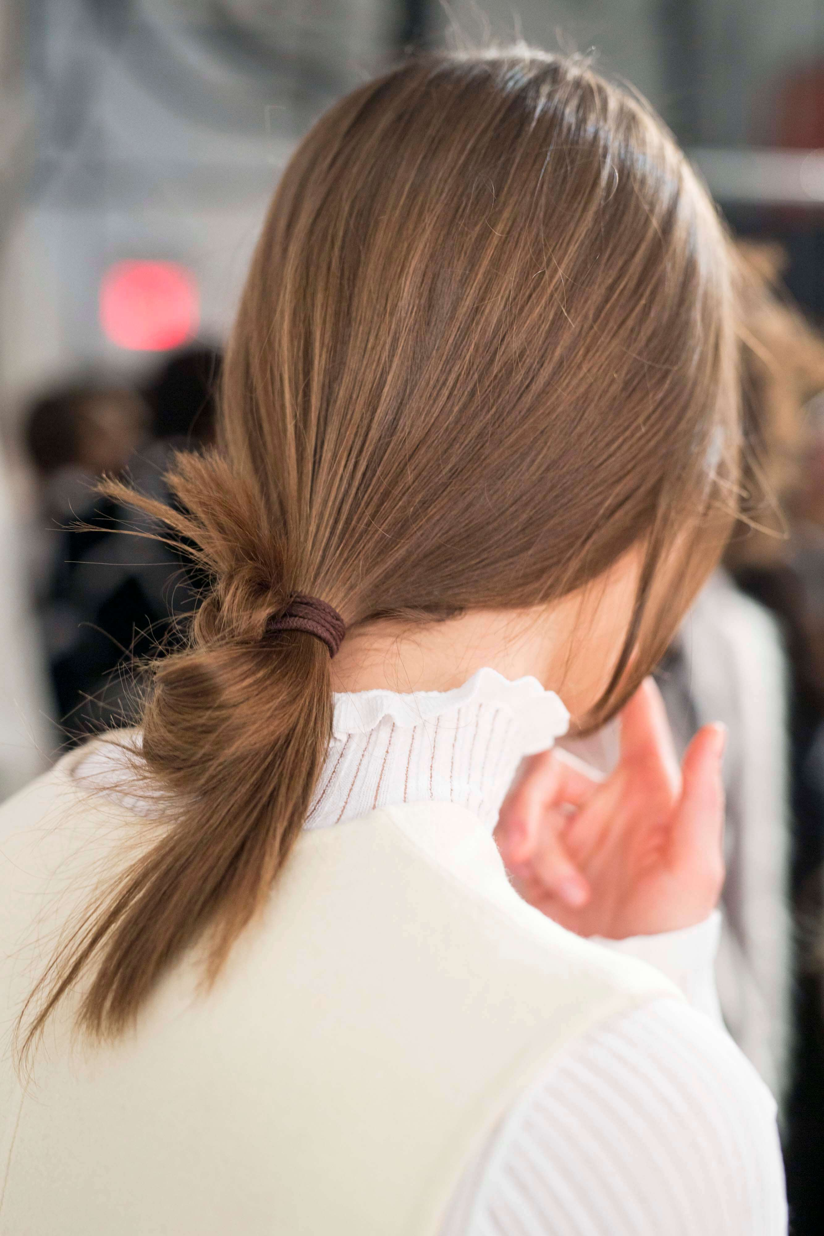 low ponytail loop stylish hairstyles AW16