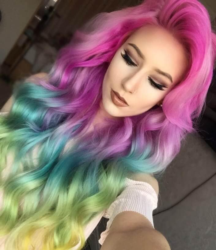 mermaid rainbow hair