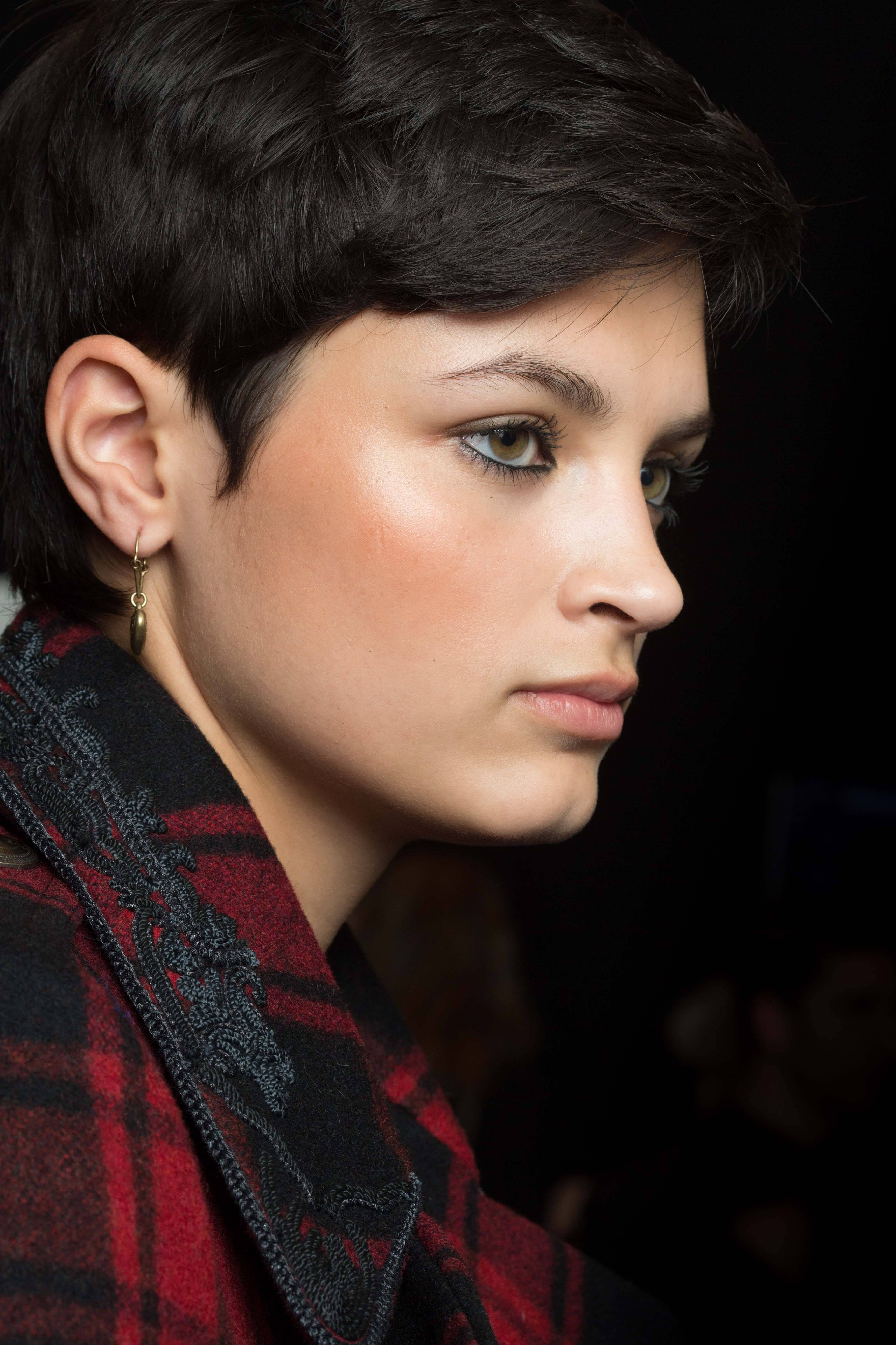 pixie crop and sideburns