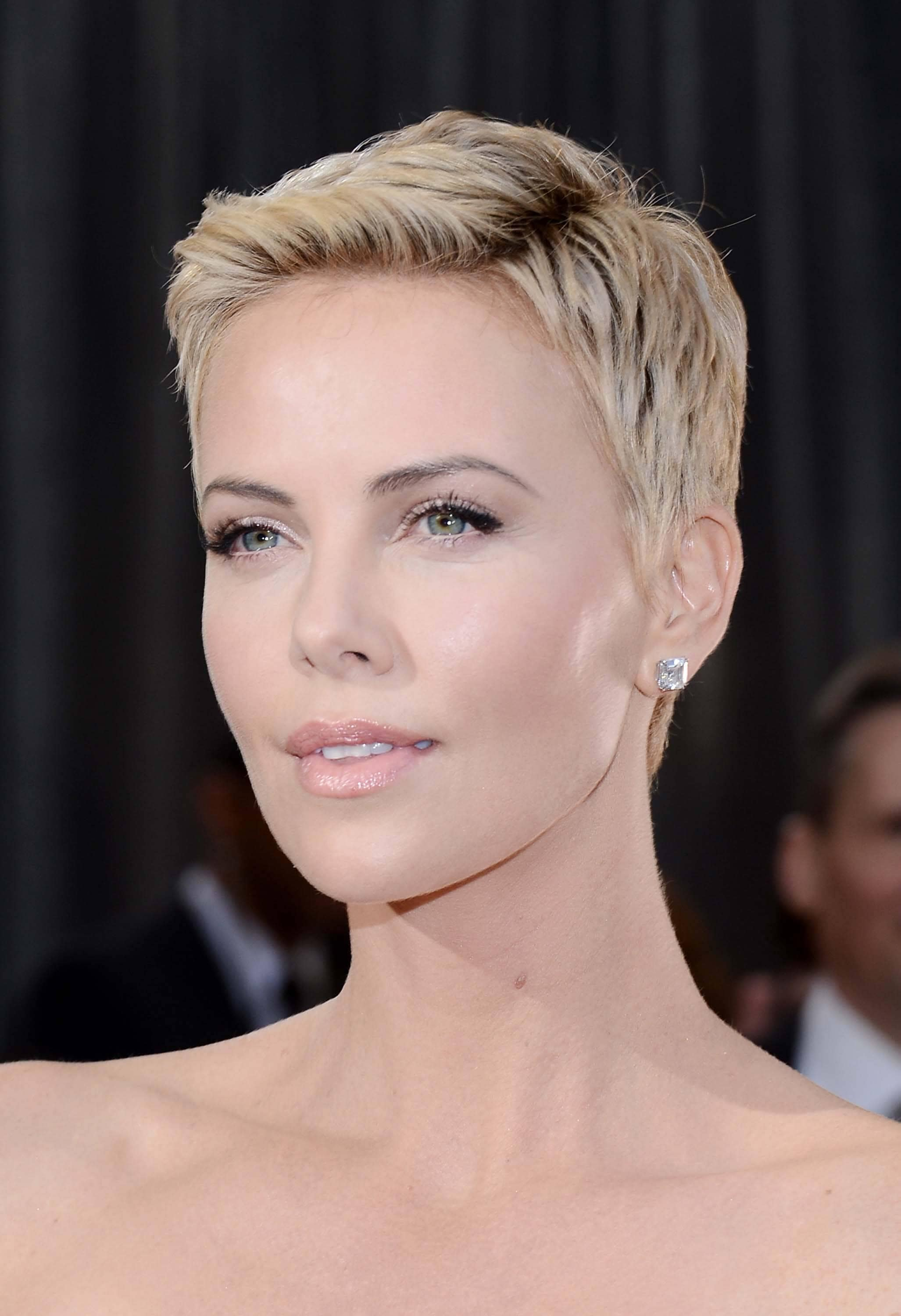 short pixie haircuts charlize theron