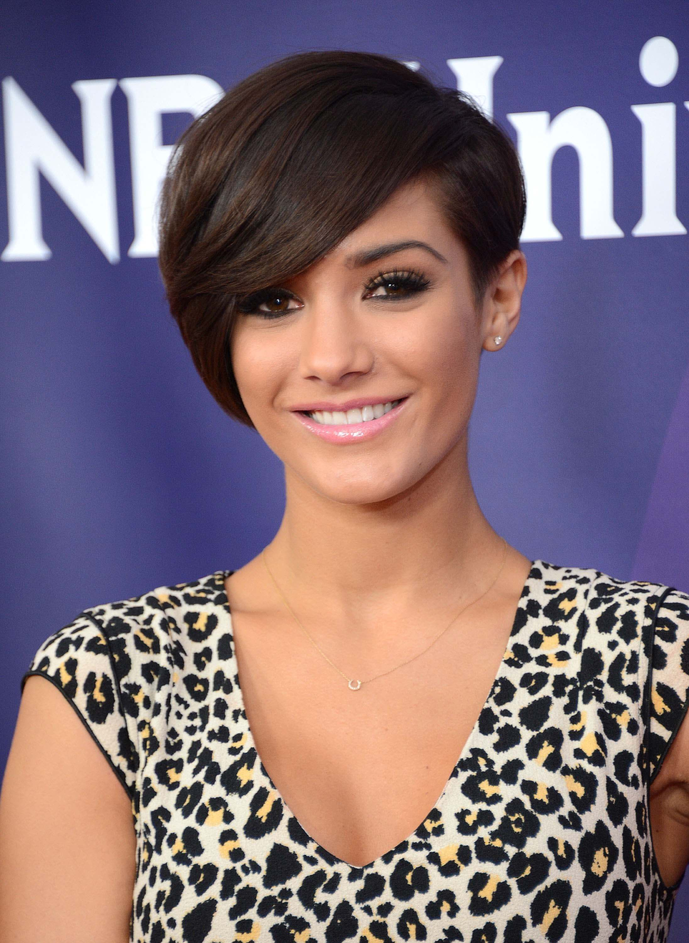 pixie haircuts with bangs Frankie Bridge