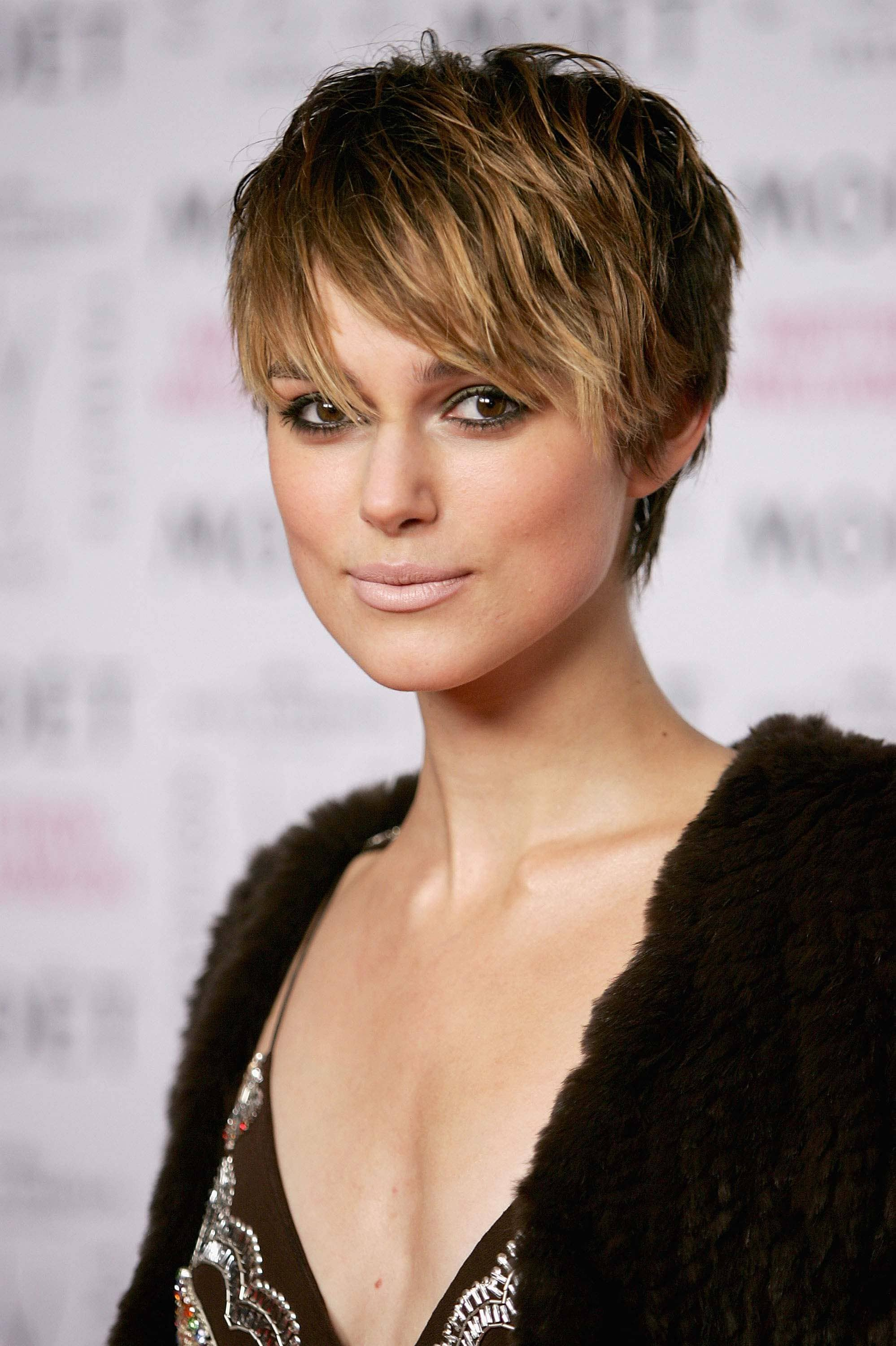 long tapered layered pixie haircut keira knightley