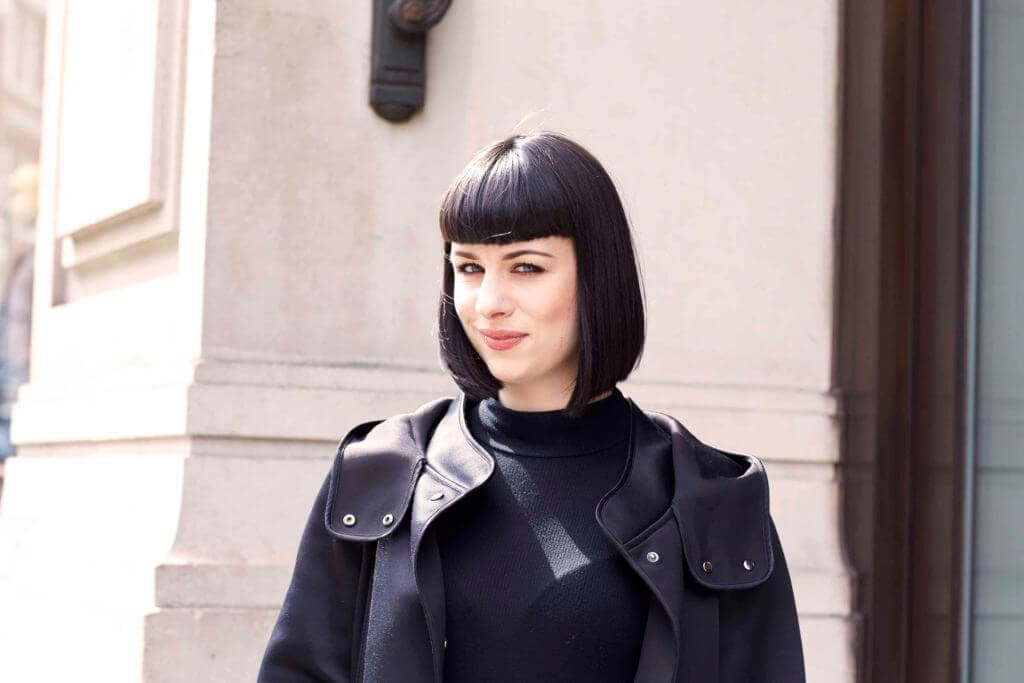 rounded, smooth bob short hairstyles for long faces