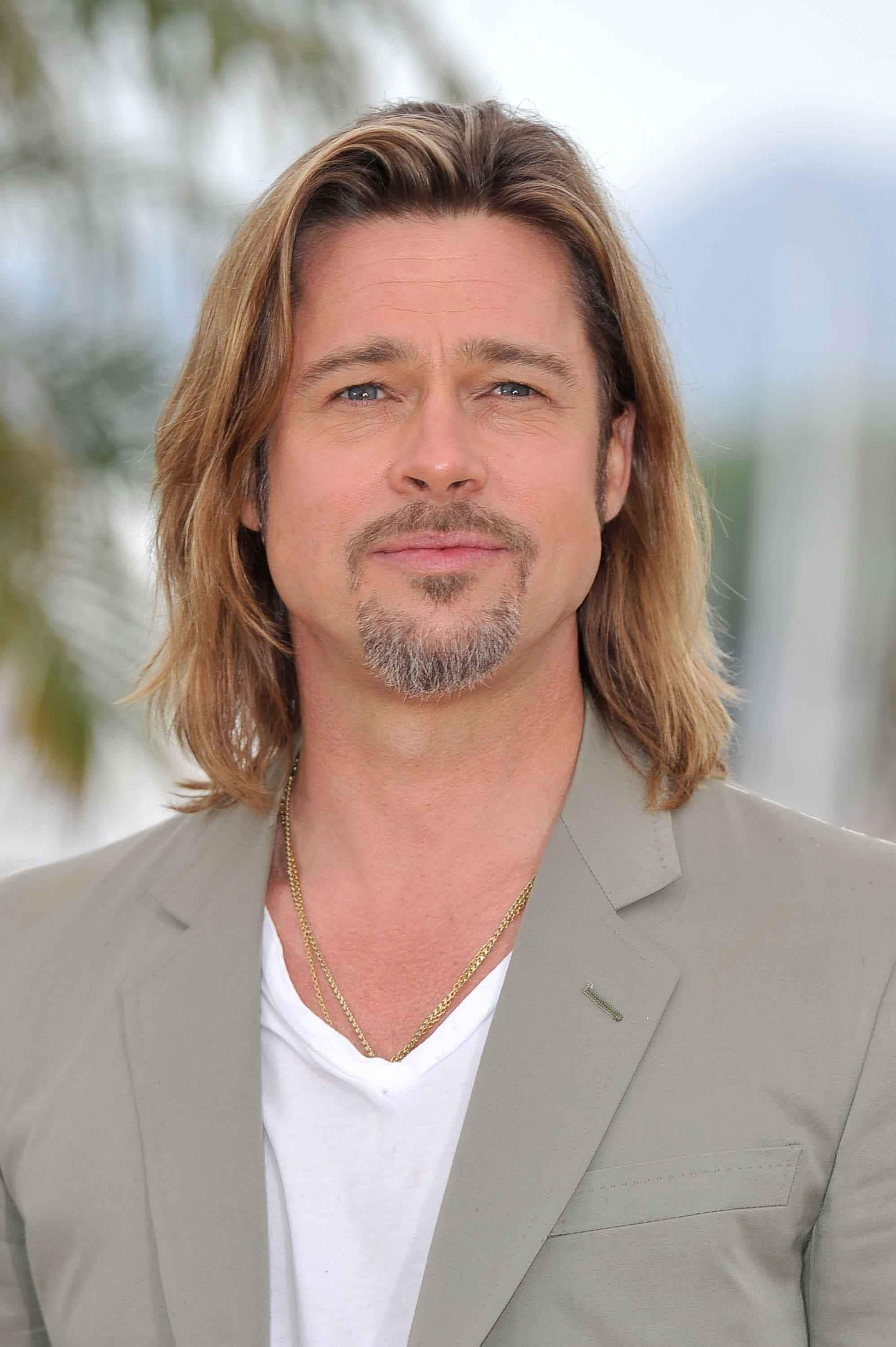 Guys with long hair: All Things Hair - IMAGE - Brad Pitt light brown hair