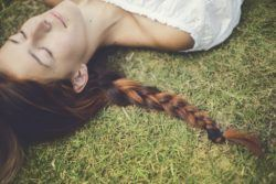 Make hair grow faster brunette with plait