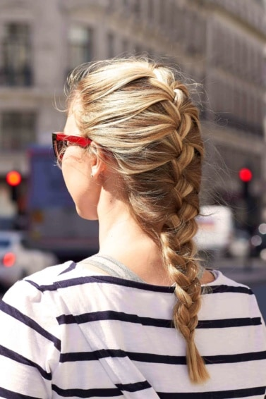 simple French braid cute hairstyles