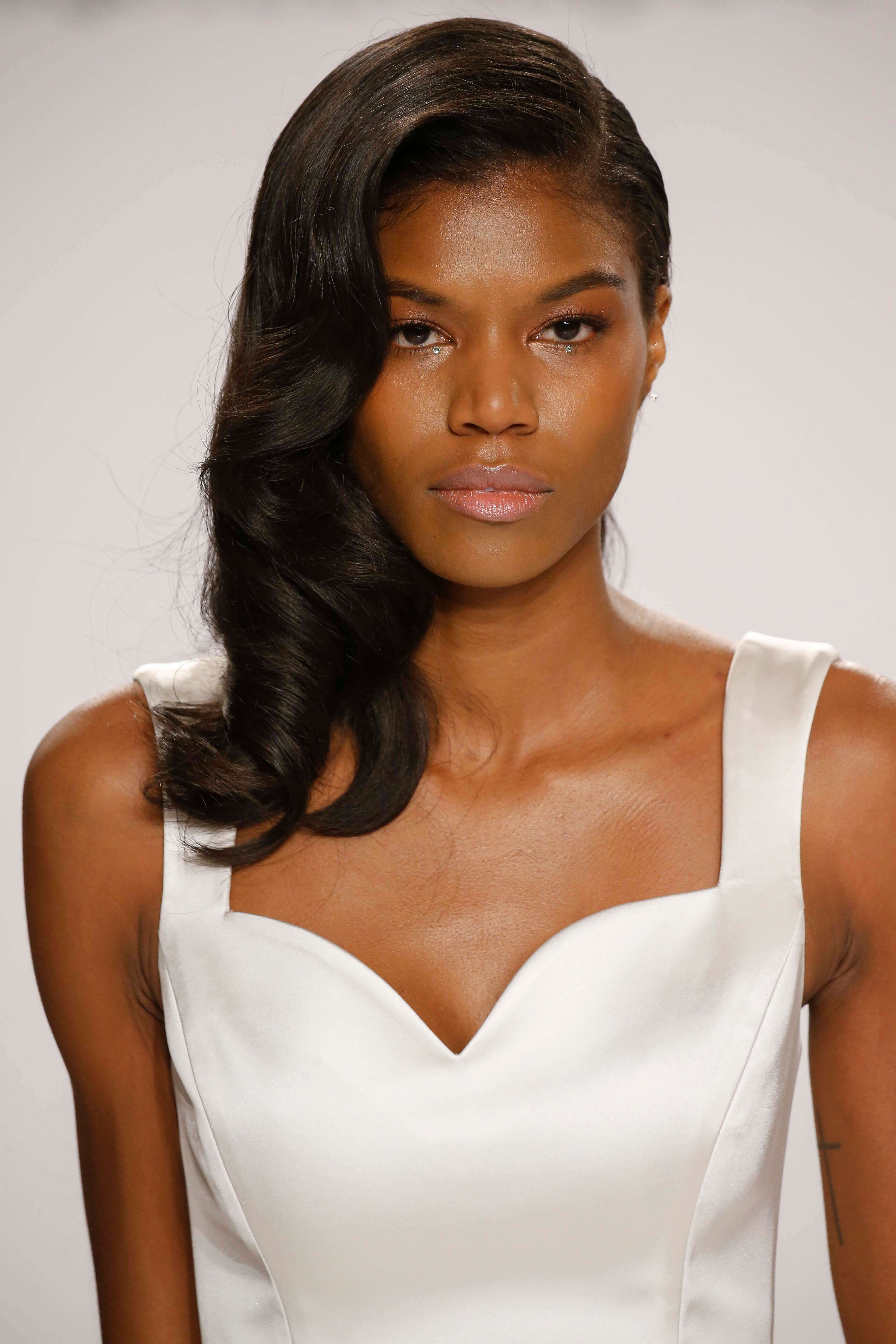 Wedding Black hairstyles to the side model advise to wear for summer in 2019
