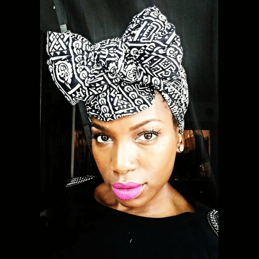 bow head scarf black transitioning hairstyles